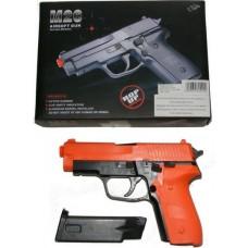 Double Eagle M26 Spring Powered Orange Plastic BB Gun Pistol