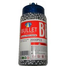 1 Tub of 2000 Silver 0.15g Plastic 6mm BB Gun Pellets